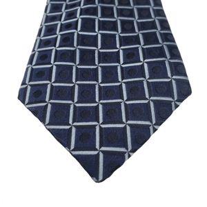 Ermenegildo Zegna Blue Circle Square Tie